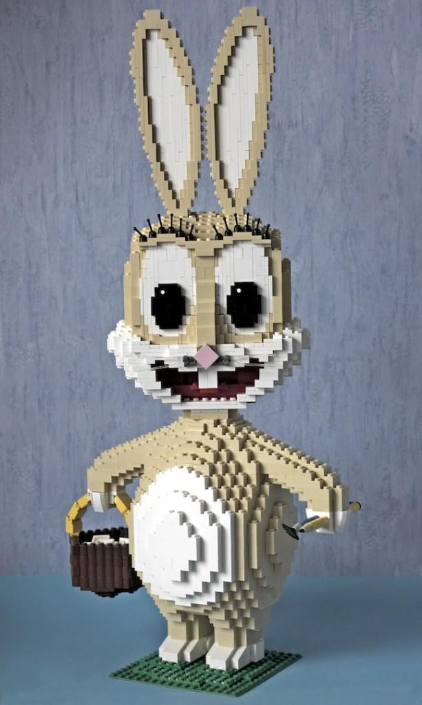 Osterhase aus Legosteinen