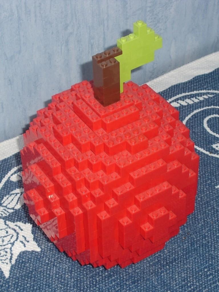 Apfel aus Lego