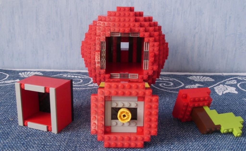 Bestandteile der Legoskulptur