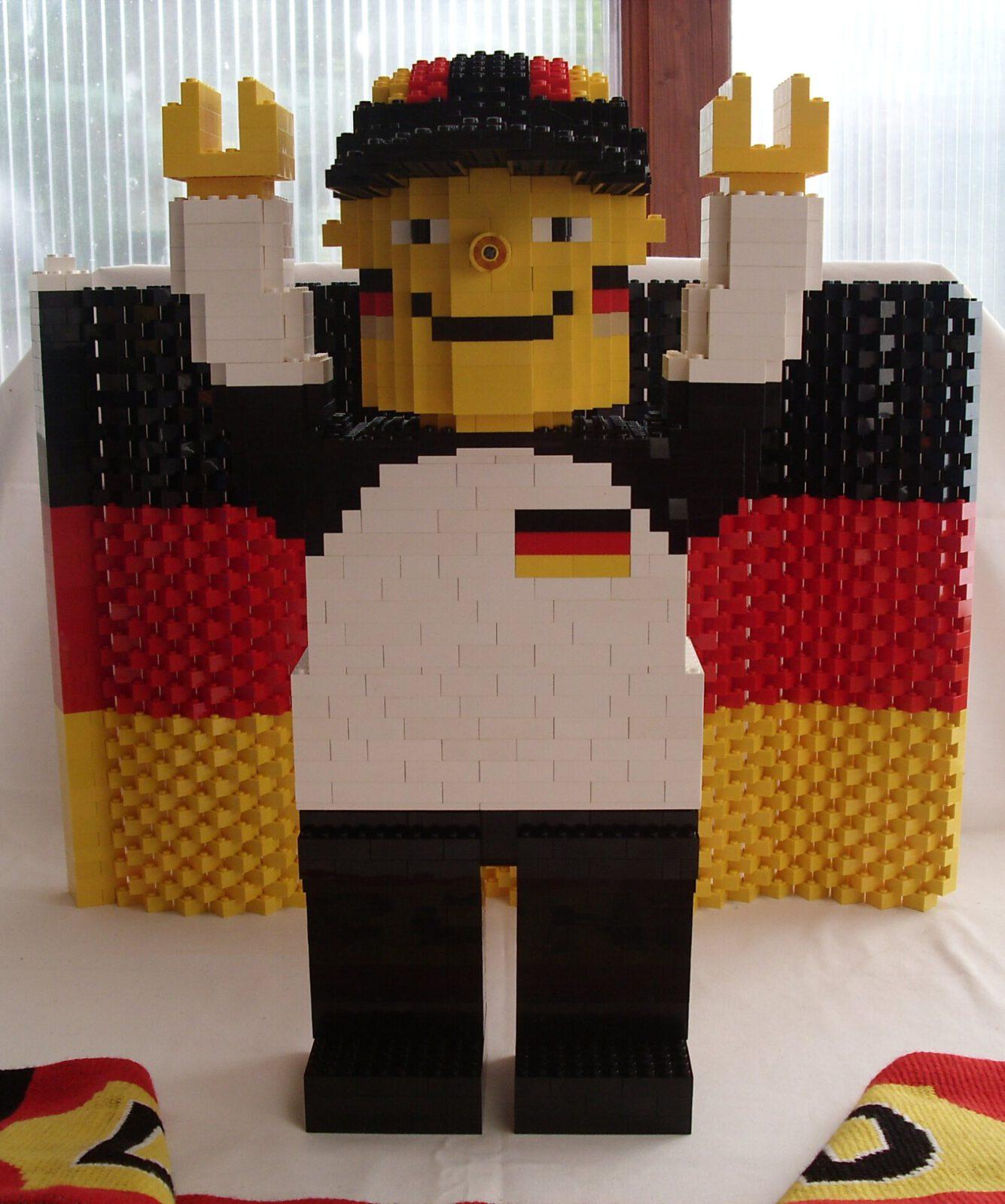 Lego Deutschlandfan für die WM 2010