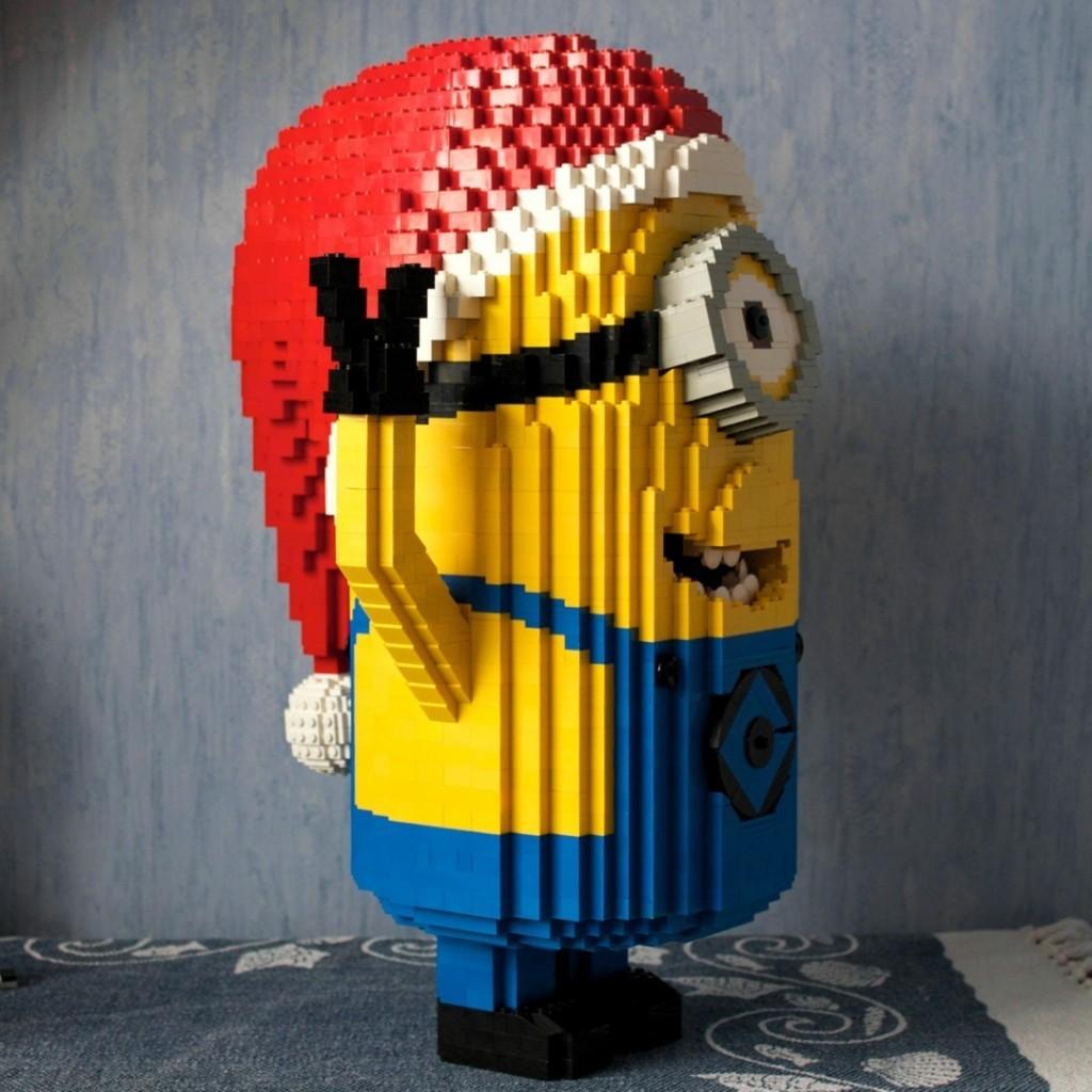 Legoskulptur eines Minions