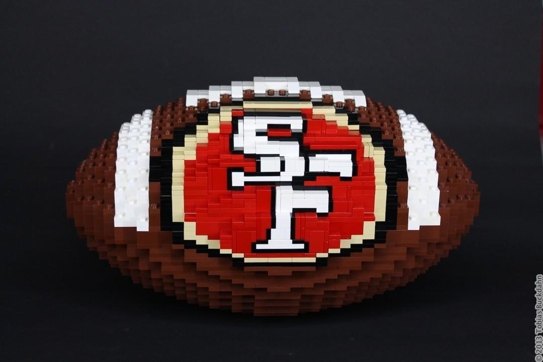SF 49ers Football als Legosteinen