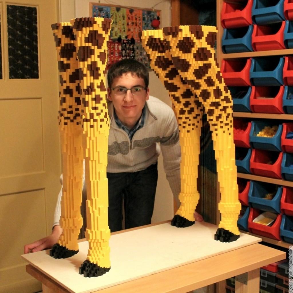Beine der Legogiraffe