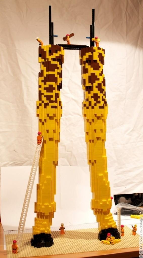 Großbaustelle Legoskulptur