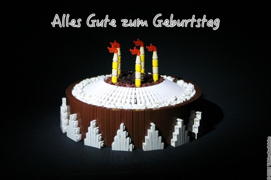 Geburtstagstorte aus Lego