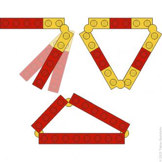 Dreiecke mit Legowinkeln